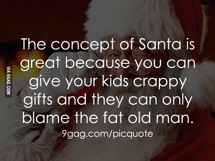 The concept of Santa is great!