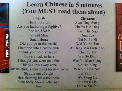 Learn to speak in Chinese!