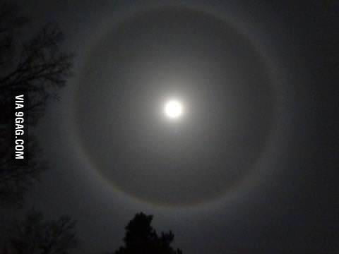 Picture of a Winter Halo in El Paso, TX