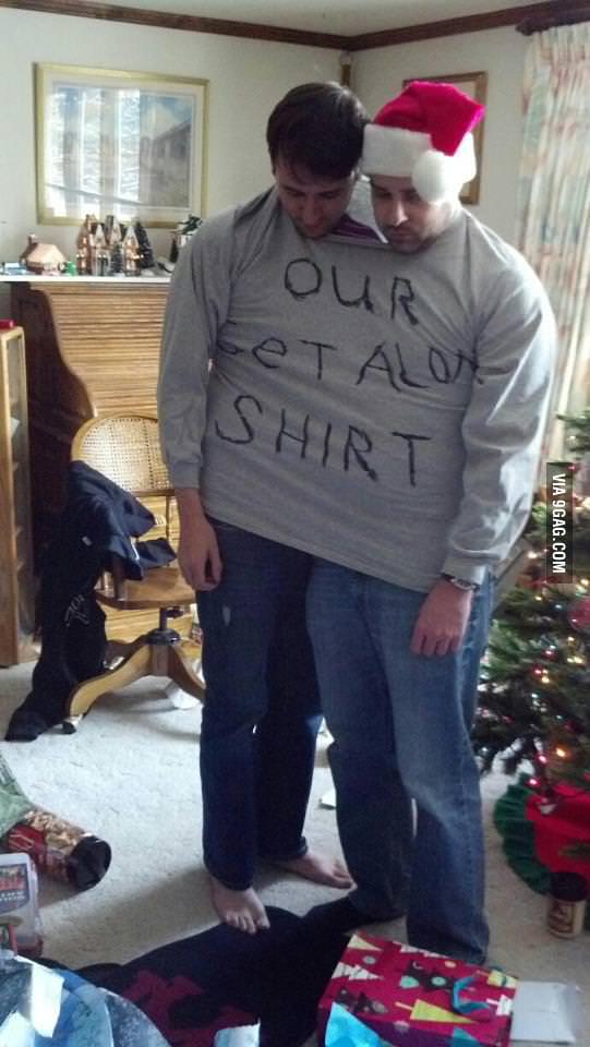 Our mom got us a shirt.