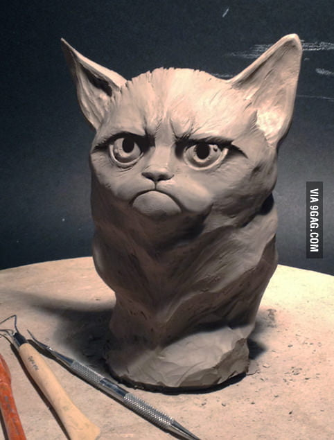 Grumpy Statue
