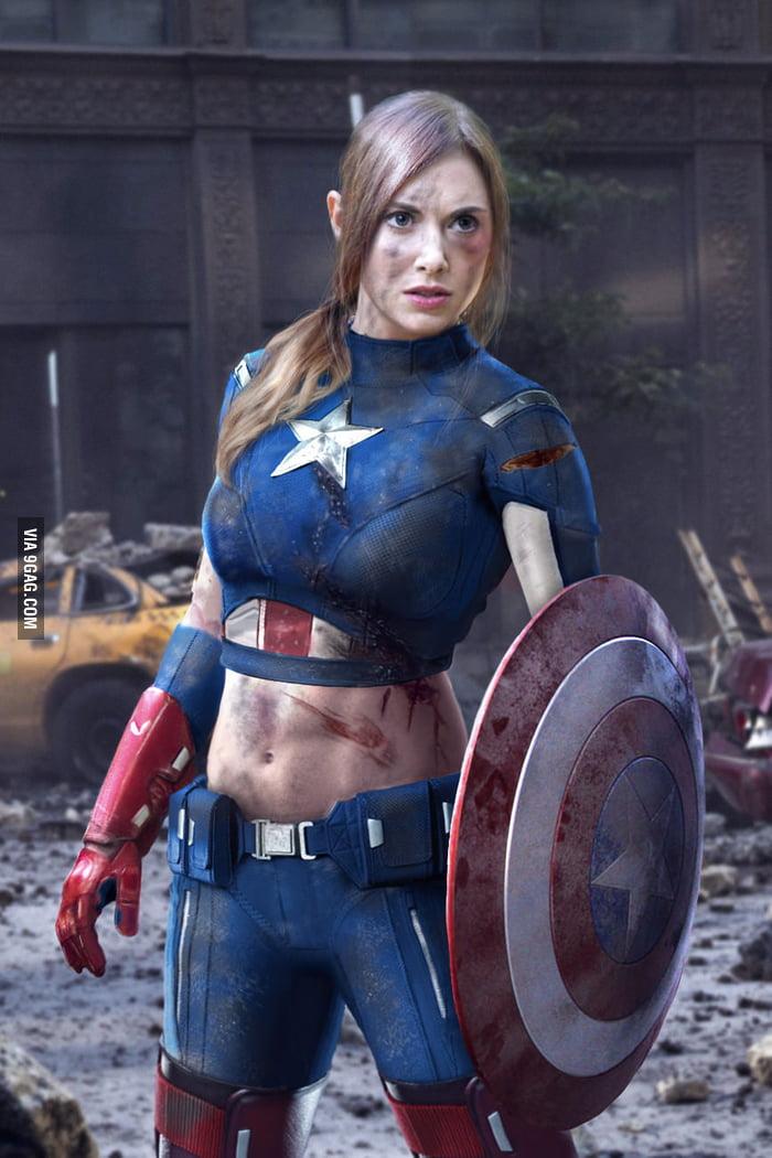 Woman Captain Americ