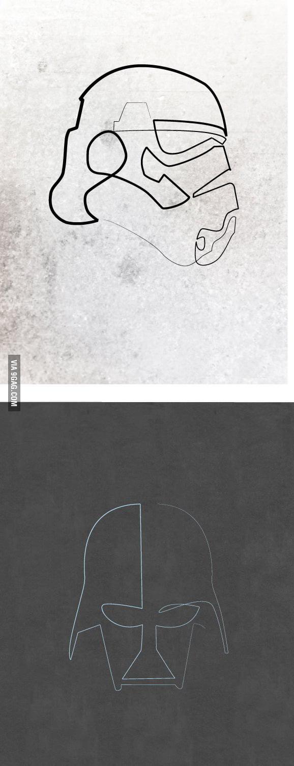 One line geek art