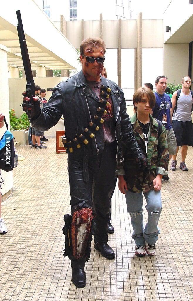 Terminator cosplay.