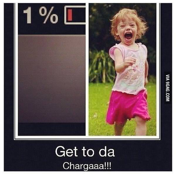 That moment when the battery is 1%...