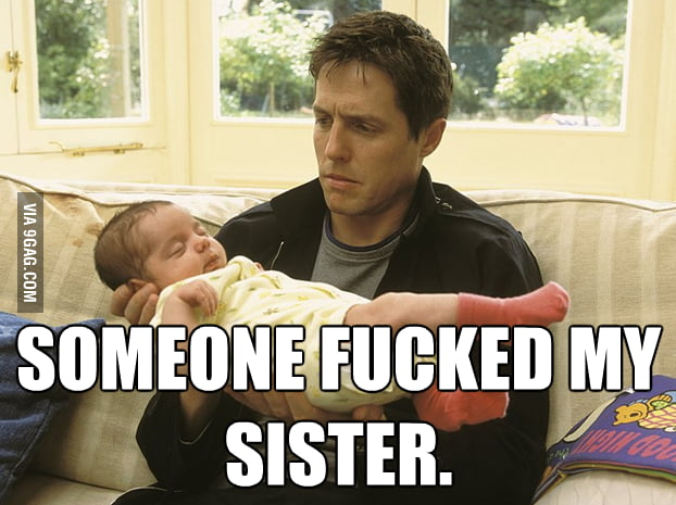 How I really feel holding my newborn nephew.