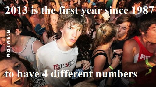 2013 is the first year...