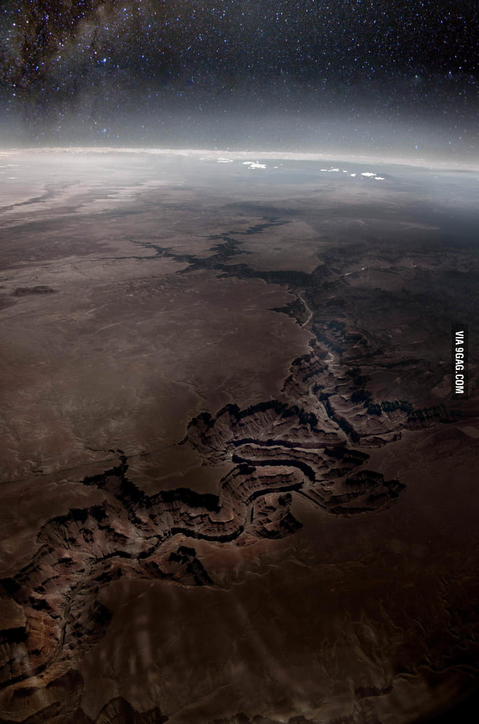 The Grand Canyon seen from space.