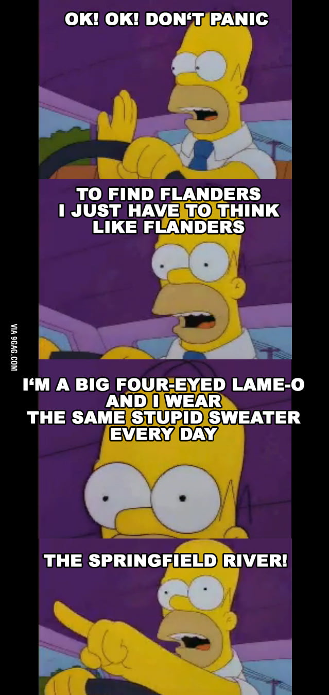 Homer thinks like Flanders