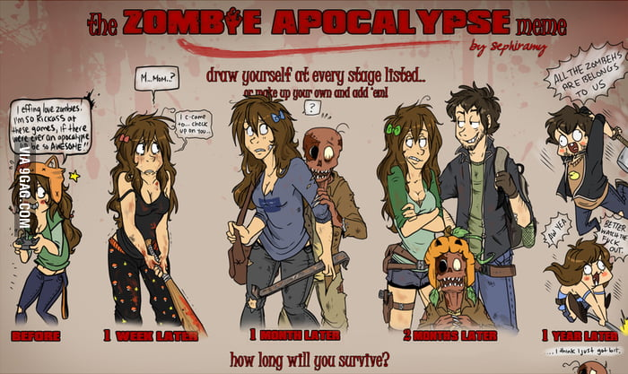 How long will you survive a zombie apocalypse?