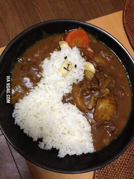Llama curry rice.