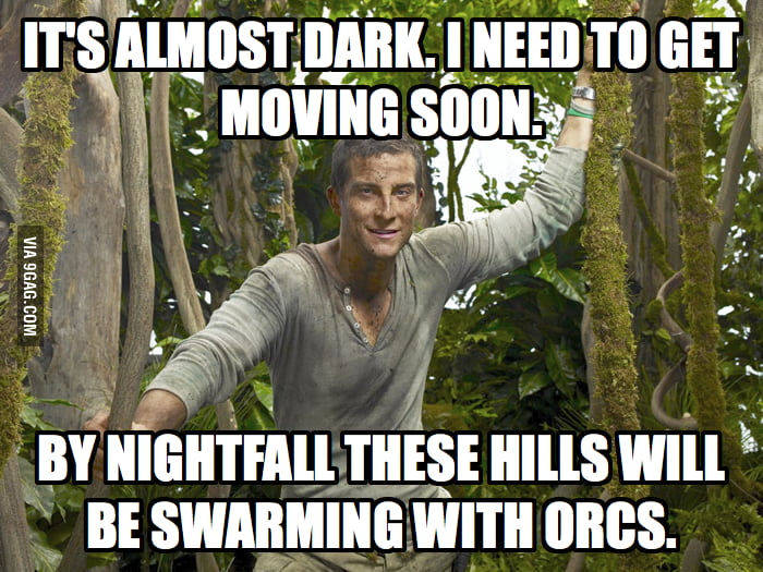 Bear Grylls in New Zealand.