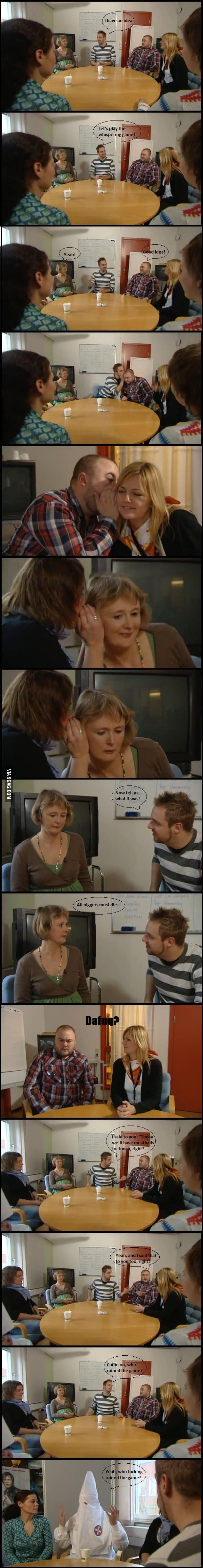 Whispering game