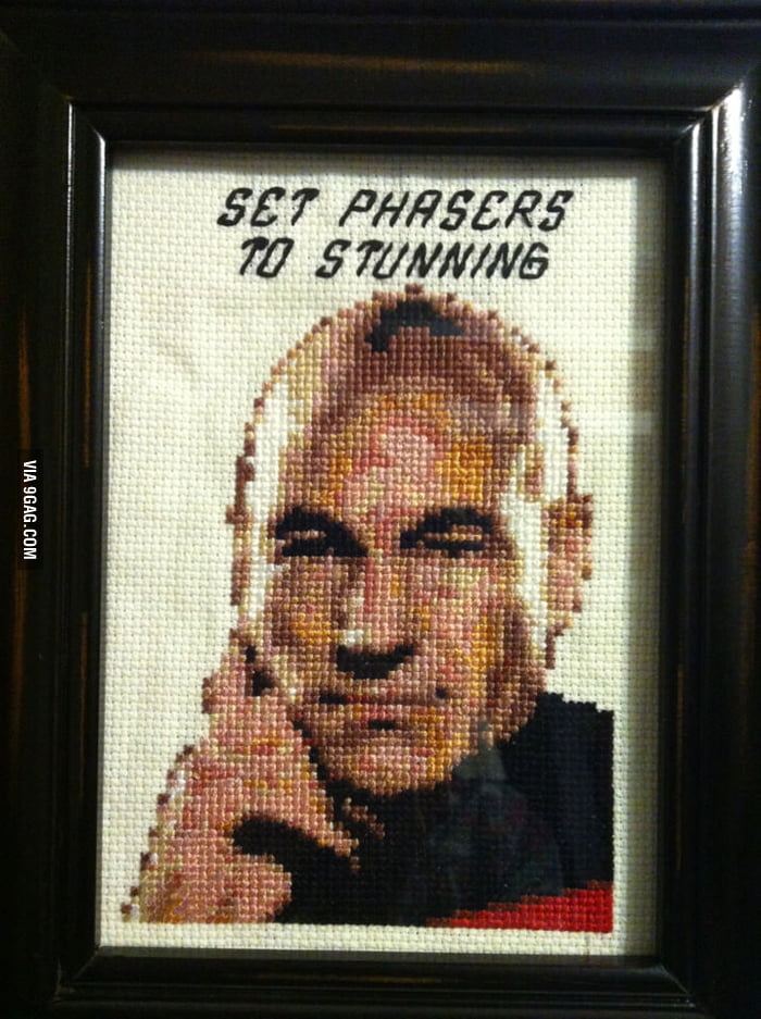 Awesome Captain Picard Cross-Stitch!