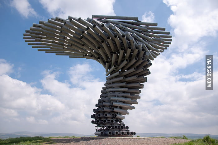 The Singing Ringing Tree in Lancashire, England.