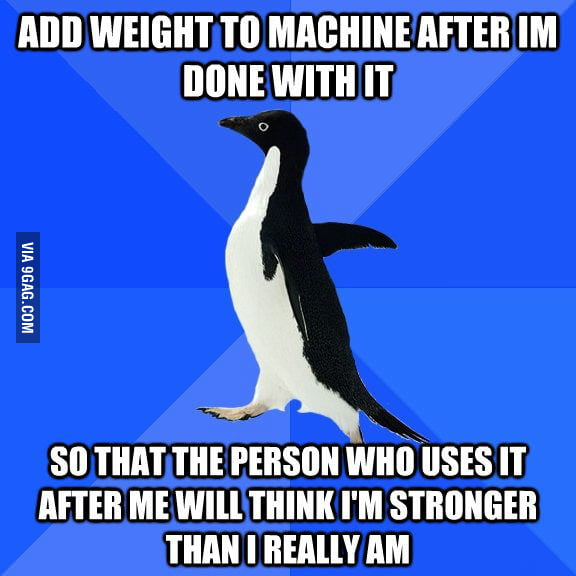 As a beginner at the gym.