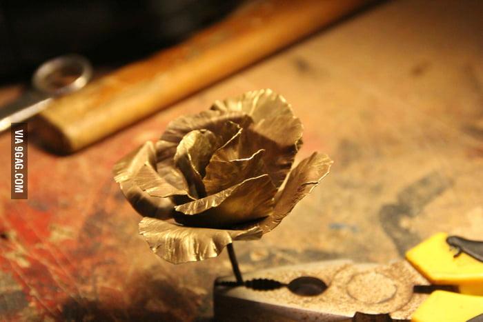 A copper rose.