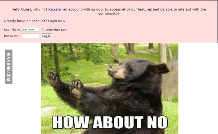 Whenever your on a forum and this comes up