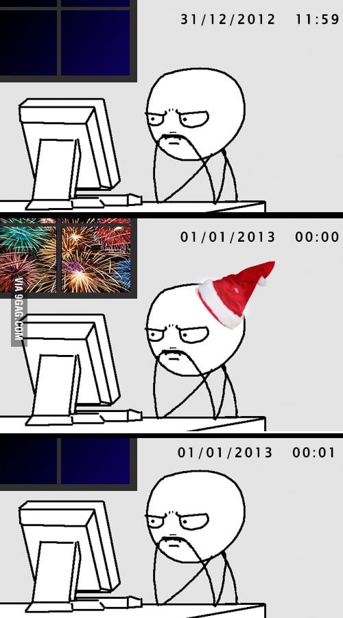 This is me celebrating the new year