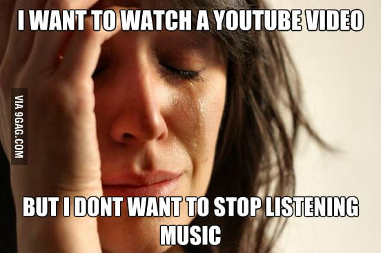 Another first world problem