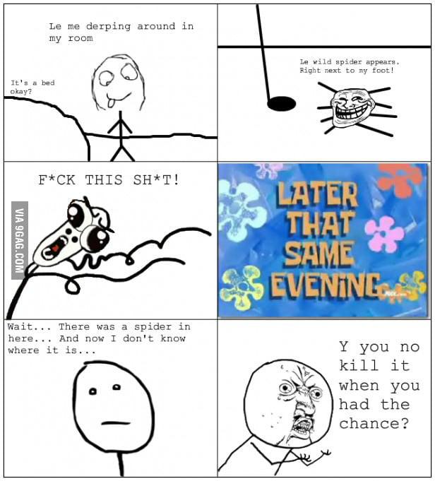 Trolling spider