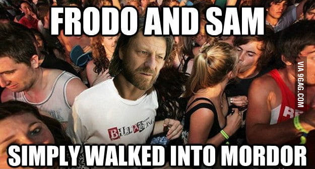 After re-watching LOTR.