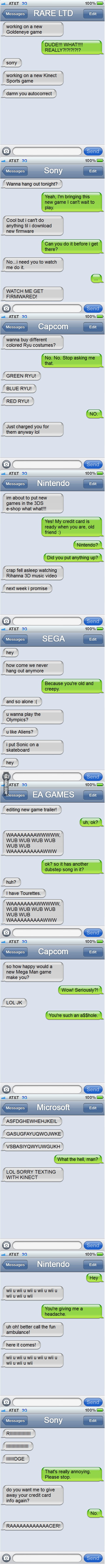 Video Game Companies as text mates