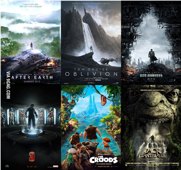 2013 Movie Posters copying each other.