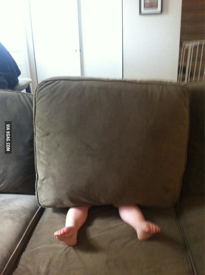 How he plays hide n seek