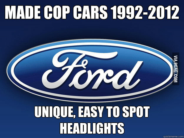 Good Guy Ford, driving at night won't ever be the same...