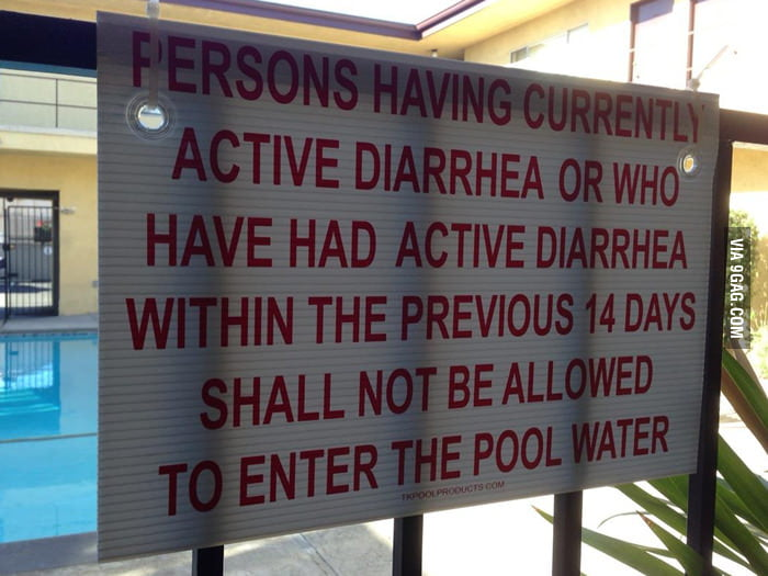 New pool rules went up today.