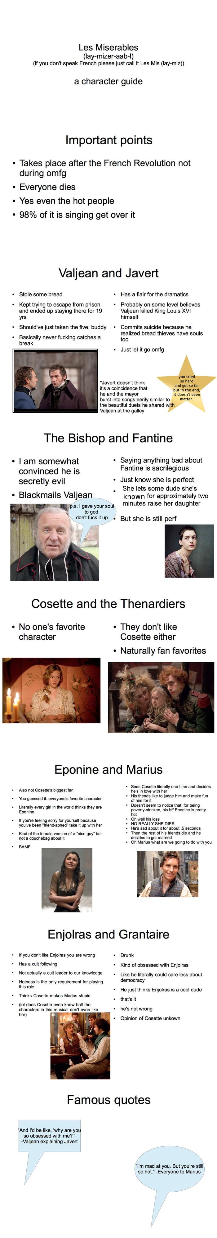 """A """"Les Misérables"""" character guide"""