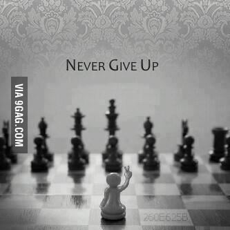 Give up? Not now!