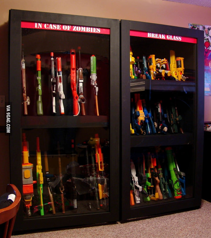 A closet for weapons.