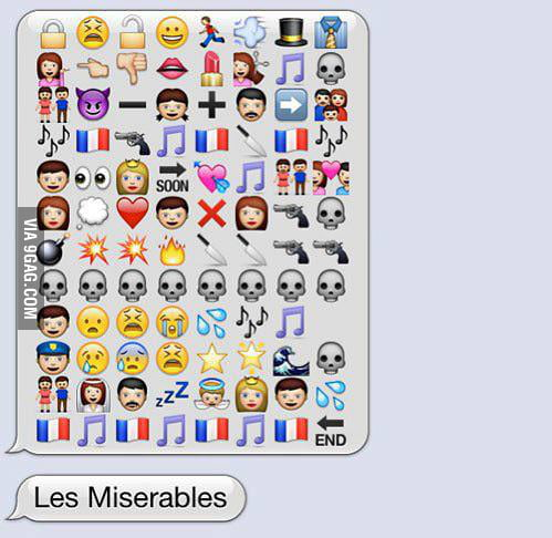 Les Misérables in SMS