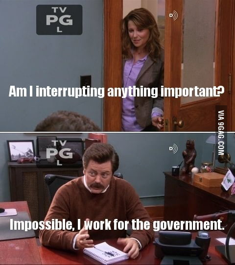 I work for the government.