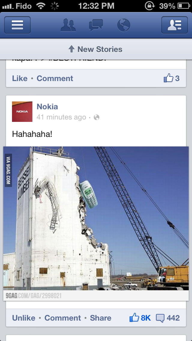 Posted by Nokia on Facebook