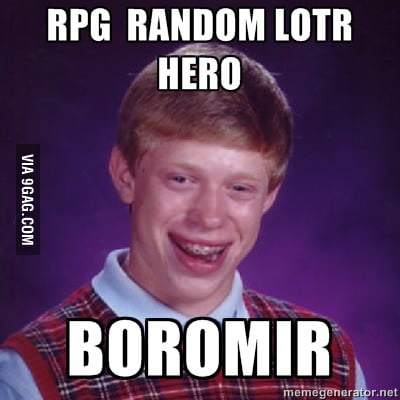 Just Bad Luck at RPG