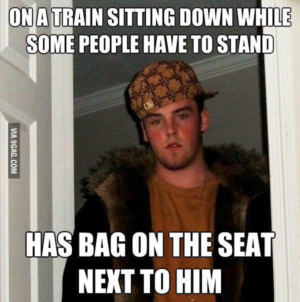 Scumbag Steve on the train.