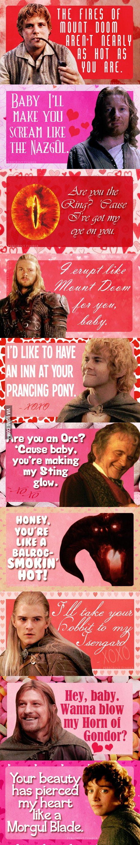 LOTR pick up lines