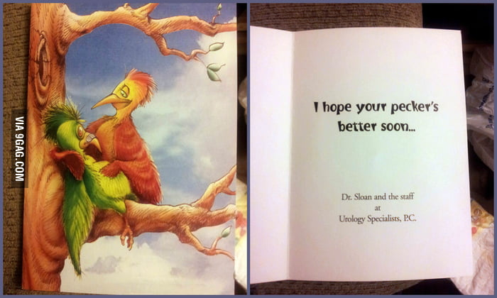 Got this greeting card from my urologist.