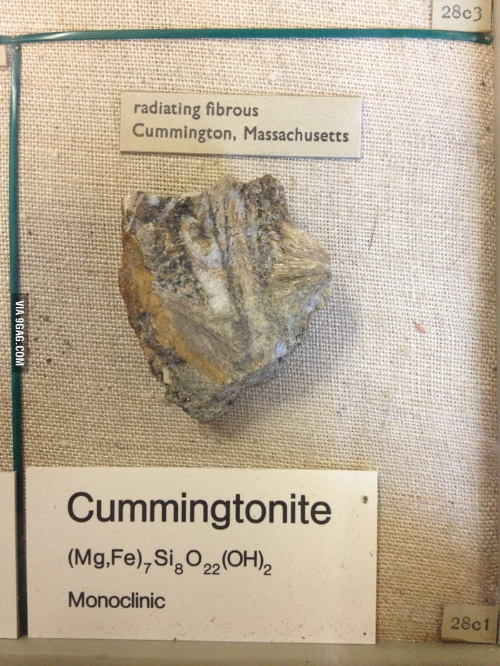 The men's stone: Cummingtonite