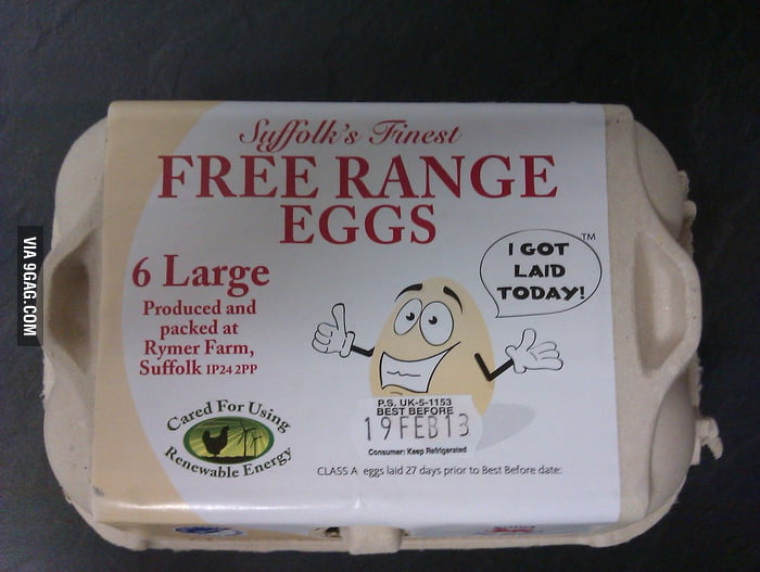 The best slogan for fresh eggs.