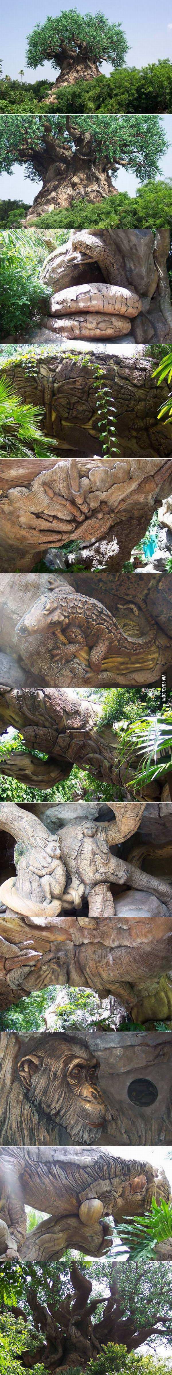 Carved baobab