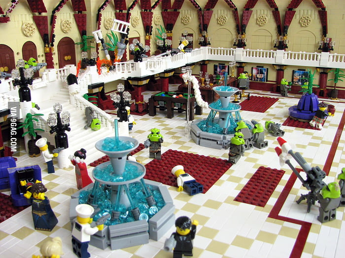 Fifth Element Fhloston Paradise recreated In LEGO.