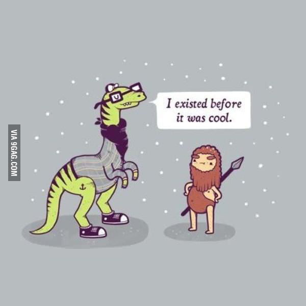 Hipster t-rex is hipster