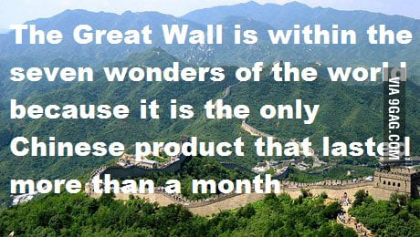 True story about The Great Wall