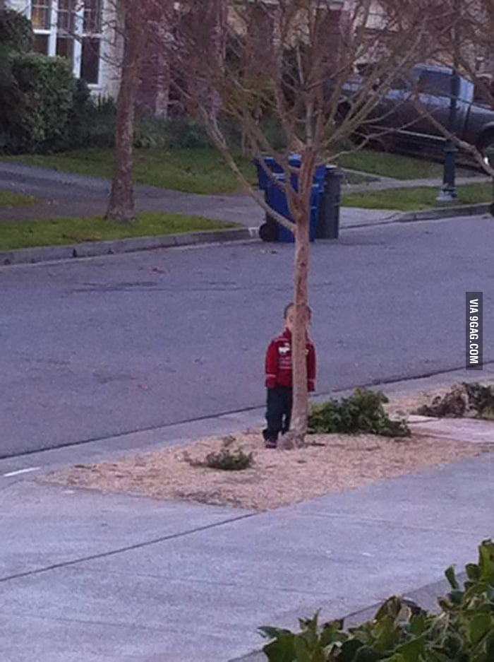 Playing hide and seek with my Nephew