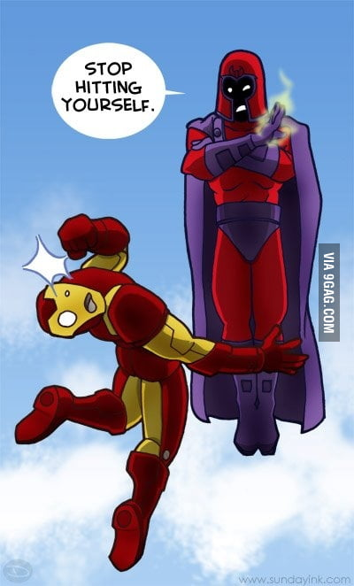 Just Magneto and Ironman