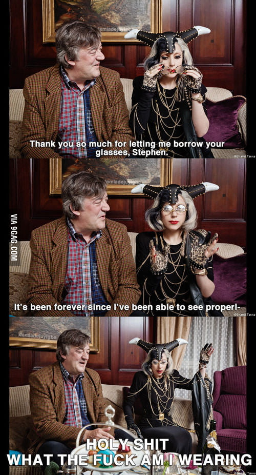 Stephen Fry and Lady Gaga meet for tea